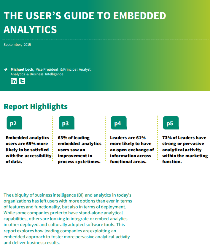 Guide to Embedded Analytics